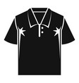 polo tshirt icon simple style vector image
