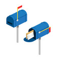 post box isometric vector image