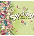 Postcard dedicated to spring and mood vector image vector image