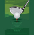poster golf vector image vector image