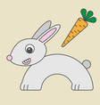 rabbit cartoon style art of hare for kids vector image