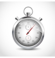 Realistic metallic stopwatch vector image vector image