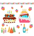 Retro Birthday Celebration Design Elements - for vector image