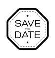 save date vintage lettering vector image