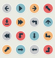 set of 16 simple arrows icons can be found such