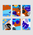 set of artistic creative cards use for vector image vector image