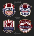 Set of football college league badge logo vector image