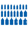 set of plastic bottle icons vector image vector image
