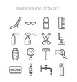Set of simple monochromatic barbershop icons vector image vector image