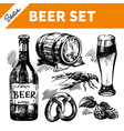 sketch oktoberfest set beer vector image