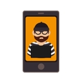 smartphone device with justice app isolated icon vector image vector image