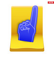 stadium seat and fan foam finger vector image vector image