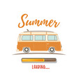 summer loading vintage retro camper van vector image vector image