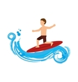surfing Extreme sport athlete avatar vector image vector image