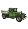 the vintage green truck vector image vector image