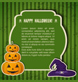 traditional happy halloween festive poster vector image vector image