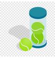 tube with tennis balls isometric icon vector image