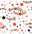 Twinkle stars seamless pattern vector image vector image