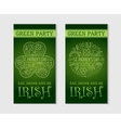 Two flyers for St Patricks day vector image