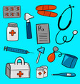 various pieces of medical equipment vector image