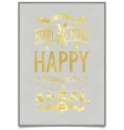 Vintage gold lettering wishes design vector image