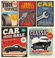 Vintage set of cars for advertising vector image vector image