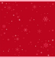 winter snowflakes red background vector image