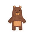 wooden kid toy ecological figure of device vector image vector image