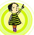 Young Girl Cartoon vector image vector image