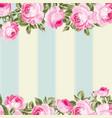 ornate pink flower border vector image