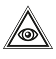Masonic Symbol All Seeing Eye Inside Pyramid vector image