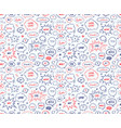 seamless pattern in school style hand drawn set vector image