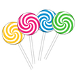 Set with different colorful lollipops vector image