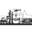 Equipment for fighting with forest fires vector image