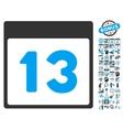 13Th Calendar Day Flat Icon With Bonus vector image vector image