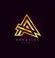 a golden letter logo monogram design creative a vector image