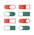 a set of buttons and switches vector image vector image