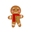 an isolated gingerbread man on white background vector image