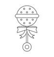 baby maraca symbol in black and white vector image
