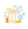 bank service advertising flat vector image vector image