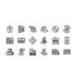 banking and finance icons set 2 vector image vector image