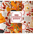 bbq seamless pattern grilled vector image vector image