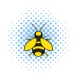 Bee icon comics style vector image vector image