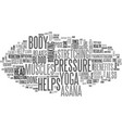 benefits of padangusthasana text word cloud vector image vector image