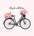 bicycle with roses vector image