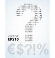 Binary code symbols vector image vector image