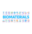 biomaterials minimal infographic banner vector image vector image