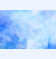 blue watercolor background abstract hand vector image vector image