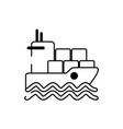 boat containers marine shipping cargo delivery vector image vector image