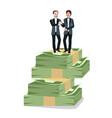 businessman partnership agreement work together vector image vector image